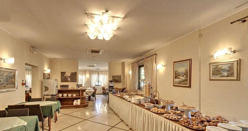 Hotel Villa Ombrosa virtual tour buffet